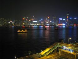 HK-harbor night